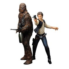 STAR WARS HAN SOLO AND CHEWBACCA ARTFX+