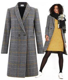 Manteau à ceinture - Mode Femme - Tweed Jacquard - Gris - CYRILLUS 6b52e087b27