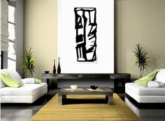 Mid Century Modern Art Painting B & W Urban Graphic by WieberArt, $185.00
