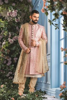 Traditional Indian jodhpuri sherwani collection online for wedding, sangeet and festive occasions. choose from latest designer shervani designs to buy sherwani online. Sherwani For Men Wedding, Wedding Dresses Men Indian, Wedding Outfits For Groom, Groom Wedding Dress, Sherwani Groom, Mens Sherwani, Wedding Couples, Punjabi Wedding, Indian Weddings