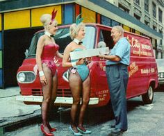 1965 Ford Falcon Econoline Van With Playboy Bunnies . Could this be why my Dad loved his 65 ford Van