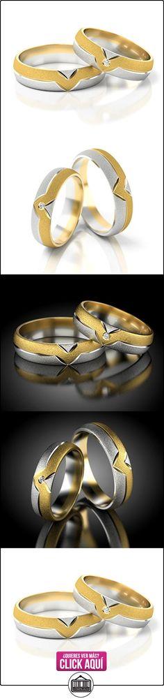 Anillos De Boda Oro Blanco / Oro amarillo 750_PD155_S-990_D  ✿ Joyas para hombres especiales - lujo ✿ ▬► Ver oferta: https://comprar.io/goto/B01DS97B06