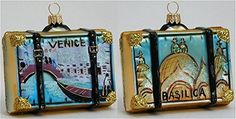 Venice Italy Travel Suitcase Polish Mouth Blown Glass Christmas Ornament *** Want additional info? Click on the affiliate link Amazon.com on image.