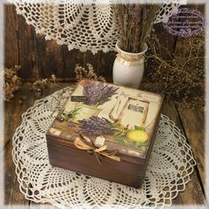 Lavander de Provencebox for teacoffe or spices by Alenahandmade, $45.00