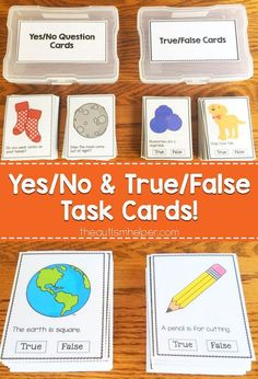 Yes/No and True/False Task Cards! - The Autism Helper