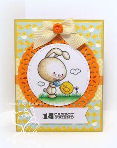 Rachel Parys: Knee Deep In Paper - It's Easter At 2 Cute Ink! - 3/10/16. (Pin#1: Easter: Bunnies. Pin+: 2 Cute Digis).