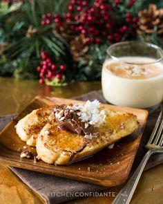 Coconut Hazelnut Eggnog French Toast by kitchenconfidante #French_Toast #Coconut #Eggnog