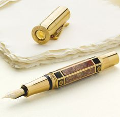 The Graf von Faber-Castell Pen of the Year 2014 takes handwriting to the extreme with gold, jasper, and quartz.