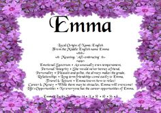 meaning of names - emma