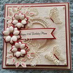 70th birthday card using Sue Wilson Dies
