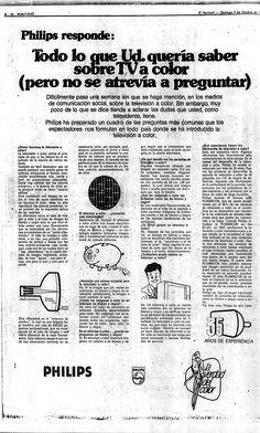 Publicidad Philips. Publicado el 07 de octubre de 1960.