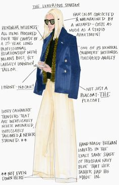NYFW: The Luxurious Spartan Illustration by Julie Houts for Stylebop