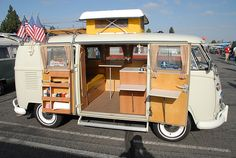 VW Volkswagen Split Bus Camper | Flickr - Photo Sharing!