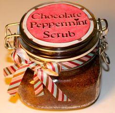 diy scrubs - chocolate peppermint