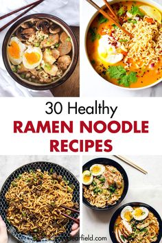 30 healthy Ramen noodle recipes Easy quick nutritious lunch and dinner ideas Healthy Ramen Noodles, Healthy Noodle Recipes, Soup Recipes, Cooking Recipes, Easy Ramen Recipes, Ramen Noodle Recipes Chicken, Recipes With Ramen Noodles, Vegetarian Ramen, Chicken Recipes