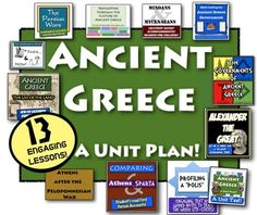 Ancient Greece Unit: 13 engaging lessons to teach Ancient Greece!In this  Ancient Greece Unit, you receive 13 highly-engaging lessons and activities that will excite your classroom on your study of Ancient Greece! This bundle saves you over 25% over buying each activity separate!