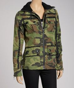 Take a look at this Olive Patrol Jacket by G.E.T. on #zulily today!