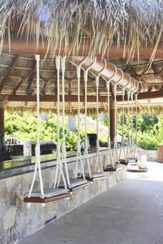 Swings, chair, beach club, punta mita, mexico, vacation