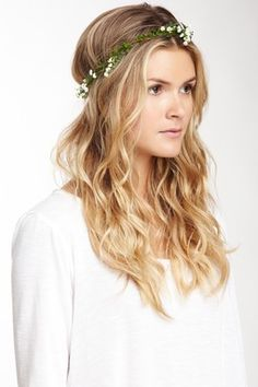 Flower Crown Rustic Head Wreath Wedding Headband Bridal Hair 3800 Via Etsy