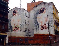 Borondo New Mural - Tetuan, Madrid