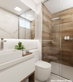 Like the Woodlike tiles in the bathroom