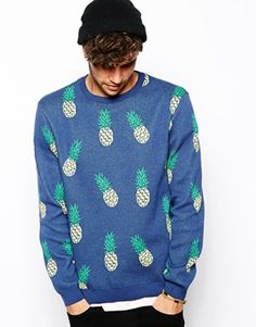 Image 1 of River Island Jumper With Pineapple Print