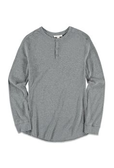Product Name:Paneled Thermal Henley, Category:CLEARANCE_ZERO, Price:5.99