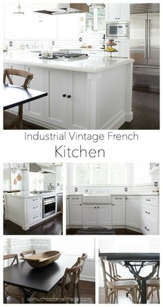 Gorgeous Industrial Vintage French Kitchen {So Much Better With Age} - The Happy Housie