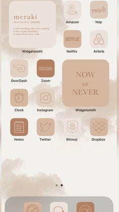 iOS 14 App Icons Beige Aesthetic Home Screen
