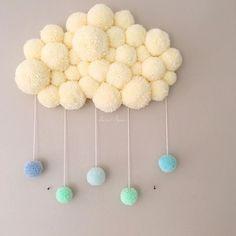 WEBSTA @ sweet_poom_ - Un Poom Cloud pour un chouette petit garçon est prêt à partir le rejoindre très bientôt Merci à la maman pour sa douce commande •Belle journée Joli #iger ✨•#poomcloud #nuage #nuagepompon #pompon #babyboy #babygirl #kids #deco #decoration #decochambreenfant #kidsroom #babysroom #cadeau #naissance #creation #faitmain #madeinfrance #withlove #merci #douceur #pastel #sweetpoom