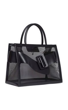 Bobby 38 bag is constructed in a structured silhouette with a mesh design, dual top handles, and buckle detail. Tote Bags, Diy Tote Bag, Luggage Bags, Boyy Bag, Clear Handbags, Handbag Storage, Transparent Bag, Frame Bag, Purses And Bags