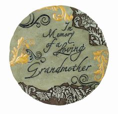 Spoontiques Stepping Stone, Memory Grandma -- For more information, visit now : Garden statues