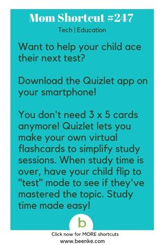 Tech and Education Shortcuts Help your child study with this cool app! Get your daily source of awesome life hacks and parenting tips! CLICK NOW to discover more Mom Hacks. Life Hacks For School, School Study Tips, Learning Activities, Kids Learning, Kids And Parenting, Parenting Hacks, Study Skills, Thing 1, Useful Life Hacks