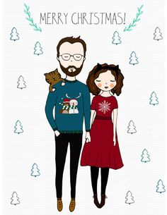 custom X-mas Special Portraits by TheFluffinessMarket on Etsy