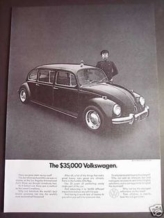 Volkswagen Beetle Bug Limousine Chauffer Photo (1971) yeah, I'm going yo prom in this heavenly item...