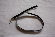6mm Ribbon bookmark, single end, charm