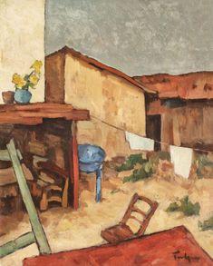 Nicolae Tonitza, Curte la Mangalia (cofetăria lui Delureanu) - Licitația de Vară #293/2018 - Arhivă rezultate Cake Shop, Artist, Painting, Google, Beauty, Patisserie, Painting Art, Cosmetology, Paintings