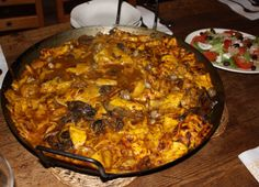 Gazpachos Manchegos. A Spanish winter meal.