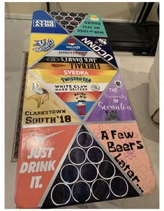 Custom Beer Pong Tables, Beer Table, Diy Table, Coffee Tables, Table Ping Pong, White Claw Hard Seltzer, Party Banner, Drinking Games For Parties, New Years Eve Decorations