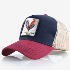 165fdf85f Cock Embroidery Baseball Cap Men Women Snapback Caps Breathable Mesh Hip  Hop Snapback Cap, Mens
