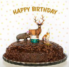Geburtstagskuchen für den Herbst mit Waldtieren Happy Birthday, Birthday Cake, Snacks, Amazing Cakes, Cake Decorating, Sweets, Desserts, Food, Anton