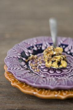 Kürbisparfait mit Balsamico-Sirup Parfait, Sorbet, Acai Bowl, Cereal, Breakfast, Food, Icecream Craft, Syrup, Ice Cream Recipes