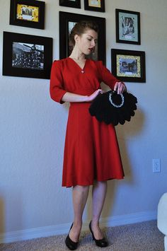"1940s ""Swing"" Dress Pattern from Sense & Sensibility Patterns. Paper Pattern $15.95, ePattern $6.95"