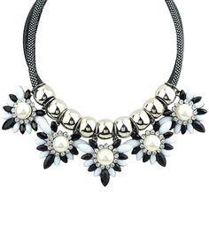 Black Gemstone Bead Necklace
