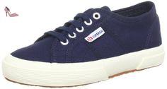 Superga  2750- PLUS COTU, Low-top femme - Bleu - Blau (Navy 933), 41 EU - Chaussures superga (*Partner-Link)
