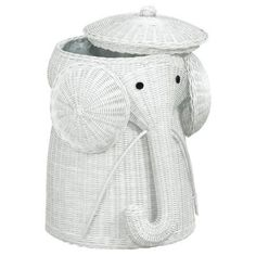 Adorable elephant laundry hamper... we totally want this for the nursery!