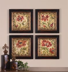 Uttermost - Floral Daydream I, II, III, IV, S/4