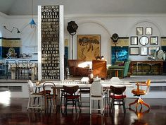 Apartment in a late Victorian schoolhouse gymnasium // London, England
