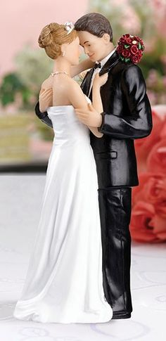 Caucasian Dancing Bride and Groom Wedding Cake Top Topper | eBay