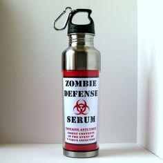 Resident Evil Zombie Defense Water Bottle